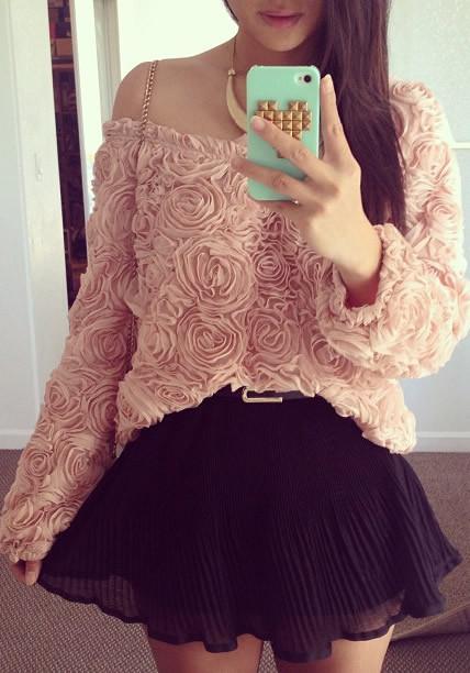 3d rose baby pink