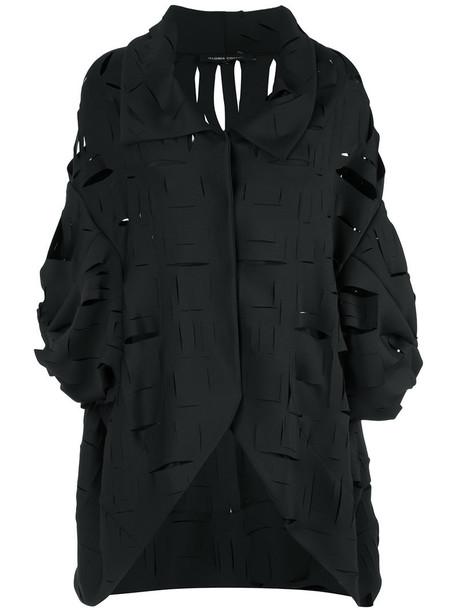 Gloria Coelho cape women spandex black top