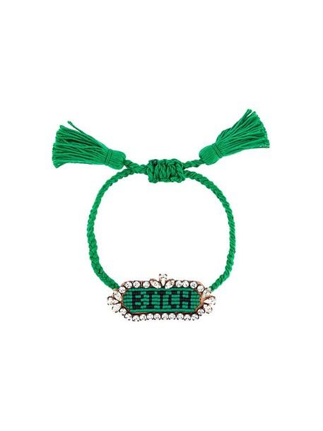 SHOUROUK women bitch cotton green jewels