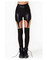 Suspenders leather leggings