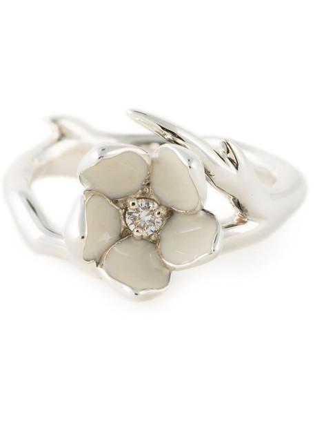 SHAUN LEANE diamond ring cherry metallic women ring jewels
