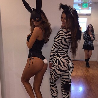 jumpsuit bunny matte cool ears mask halloween costume zebra sexy halloween accessory sexy halloween costume