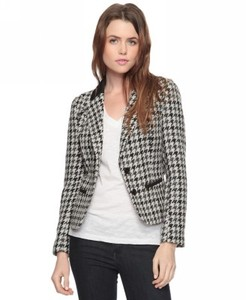 Forever 21 blazer style houndstooth print jacket sm