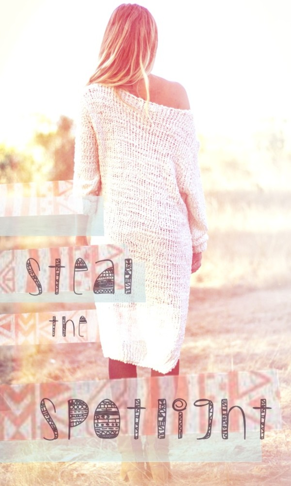 sweater shirt knit long sleeves coolie top dress