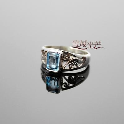 Nepal Handmade 925 Sterling Silver Topaz Ring - Wishbop.com