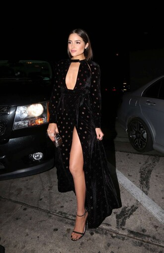dress slit dress sexy dress olivia culpo sandals