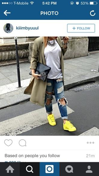 shoes adidas supercolor yellow pharell williams adidas originals supererstar jeans