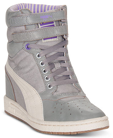 Puma Women's Sky Wedge LC Sneakers from Finish Line - Finish Line Athletic Shoes - Macy's