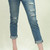 Distressed slim skinny crop jeans Just USA – Pinkracks