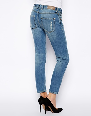 Mango | Mango Distressed Boyfriend Jeans at ASOS