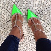 shoes,green,heels,beige,high heels,studs,neon