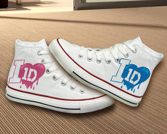 shoes converse hand painted painted shoes painted converse one direction one direction converse 1d converse 1d shoes gift ideas best gifts best gift birthday girly one direction shoes 1direction