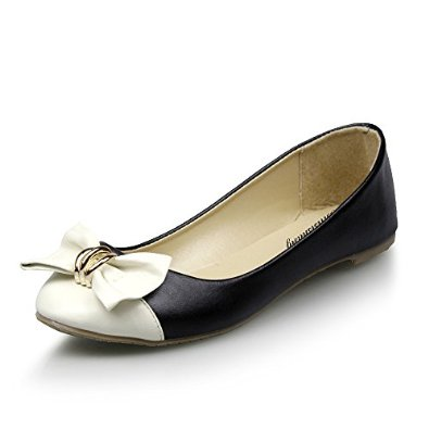 Amazon.com: bilisishang women's pu round head bow dichotomanthes bottom flat shoes: shoes