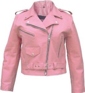Ladies pink basic full cut motorcycle leather jacket : amazon.com : automotive