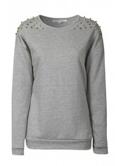 sweater,grey,studded,swag,hipster,jumper