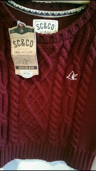 sweater burgundy sweater jumper sc and co burgundy knitwear