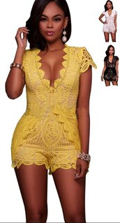 romper,yellow,white,black,white lace,black lace,crochet,crochet romper,lace jumpsuit,white romper,white jumpsuit,black romper,black jumpsuit,yellow romper,yellow dress,summer,see through,sheer,sheer lace,short,shorts,lace shorts,deep v,plunge v neck,v neck,plunge neckline,deep v dress,deep v romper,clubwear,casual,sexy,sexy romper,sexy dress,sexy jumpsuit,party,sexy party dresses,bodycon,sheath,tight,preppy,summer vacation,holiday outfit,girly,girly wishlist,stylish,moraki,black and white jumpsuit,casual chic,tumblr,tumblr girl,tumblr outfit,holiday seasson,instagram,date outfit,style
