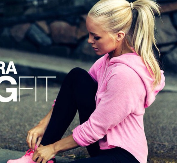 sweater alexandra bring pink hoodie sport maybe under armour