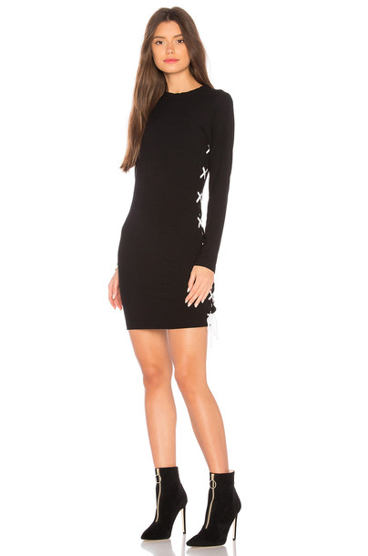 LnA dress lace up dress lace black