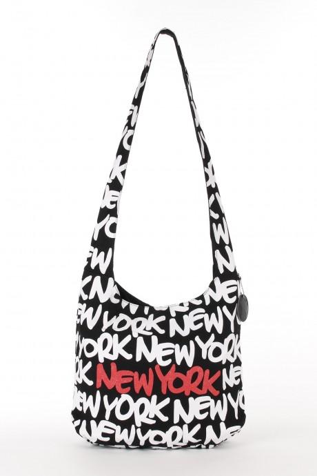 New york round neon bag