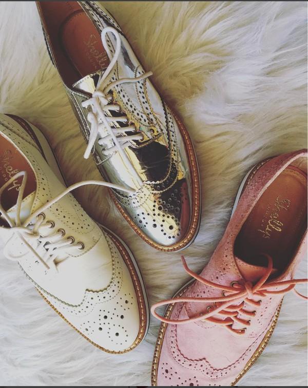 a53ea4ab572 shoes pink suede shoes white shoes spring shoes platform shoes lace-up shoes  oxfords metallic.
