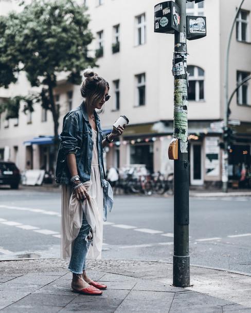 mikuta blogger jacket dress jeans bag jewels