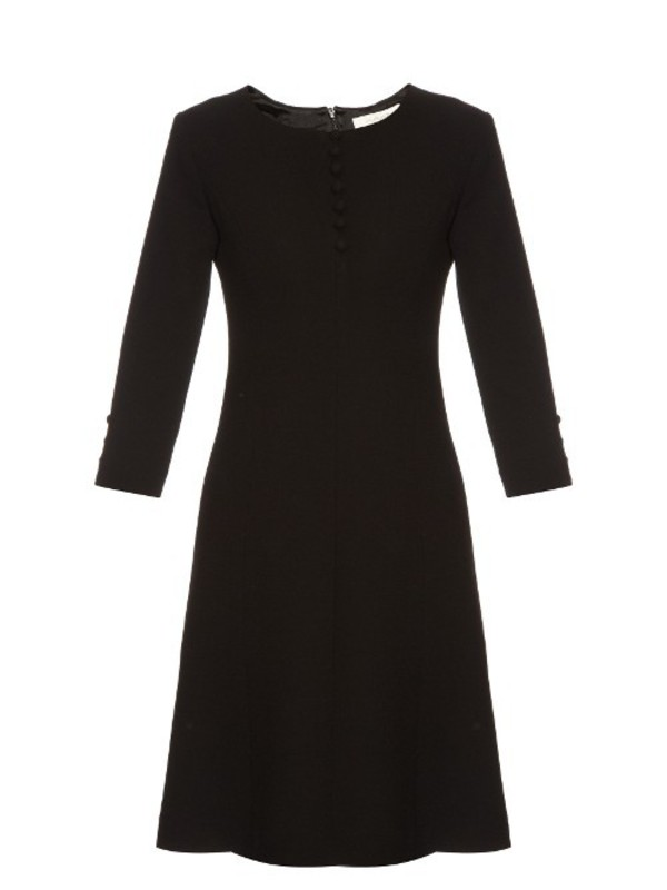 5846ce1be6b GOAT Carlotta button-up double wool-crepe dress in black