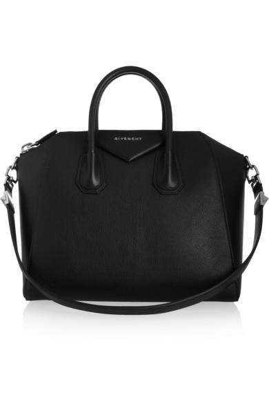 Givenchy | Sac Antigona moyen modèle en cuir de chèvre noir | NET-A-PORTER.COM