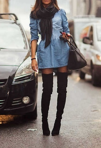 shoes knee high boots black boots