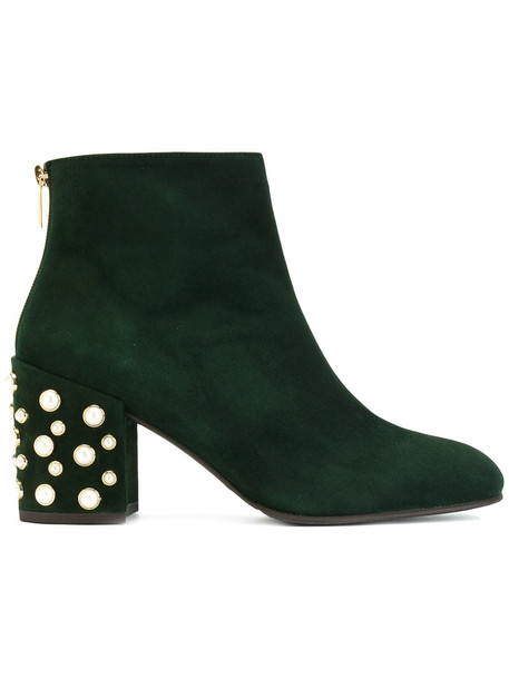 STUART WEITZMAN women leather suede green shoes