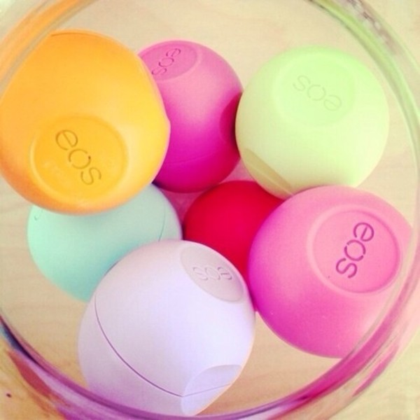 eos flavour lip balm colorful jewels