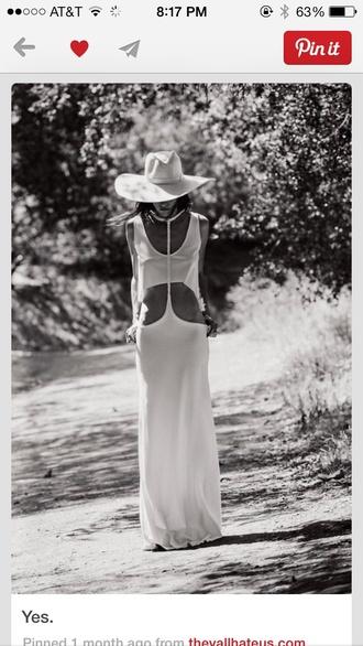 dress maxi dress white dress b&w white crop tops white tank top white summer dress summer outfits open back open sides