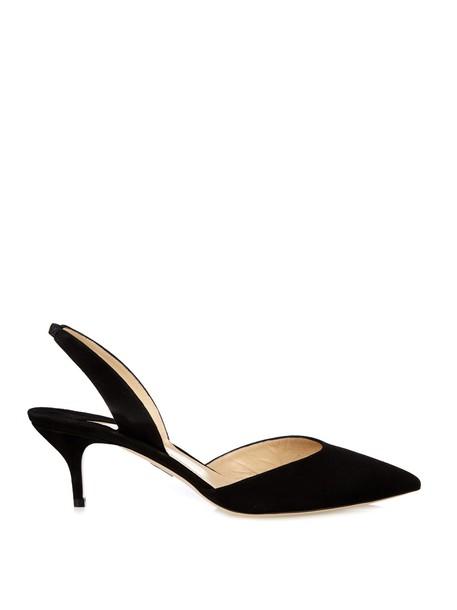 Paul Andrew suede pumps pumps suede black shoes