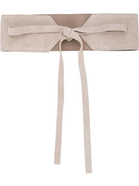 Estnation women belt lace leather brown