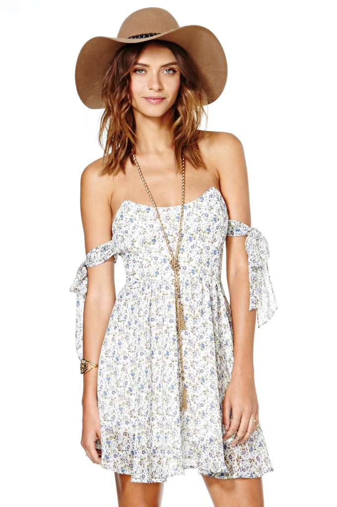 For Love and Lemons Kiss Me Dress - Floral at Nasty Gal