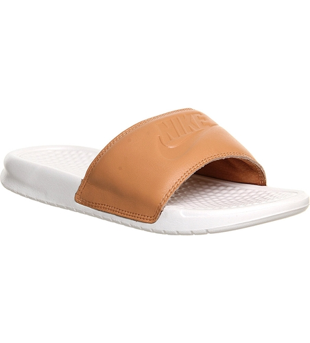 Nike Benassi Pool Slider Sandals White | Nuji