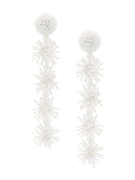 Sachin & Babi women earrings white jewels