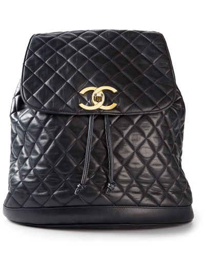 4ebf8e0b6222 Chanel Vintage Quilted Backpack - - Farfetch.com