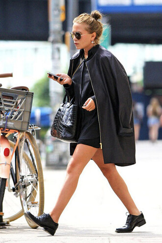 jacket oversized shoes mary kate olsen