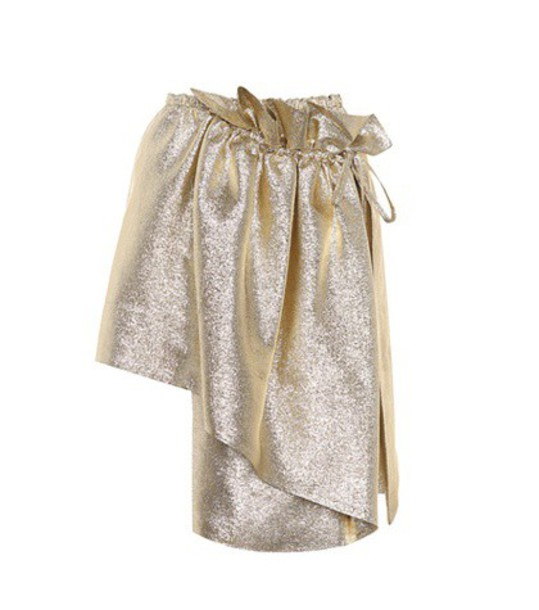 Stella McCartney skirt wrap skirt metallic gold