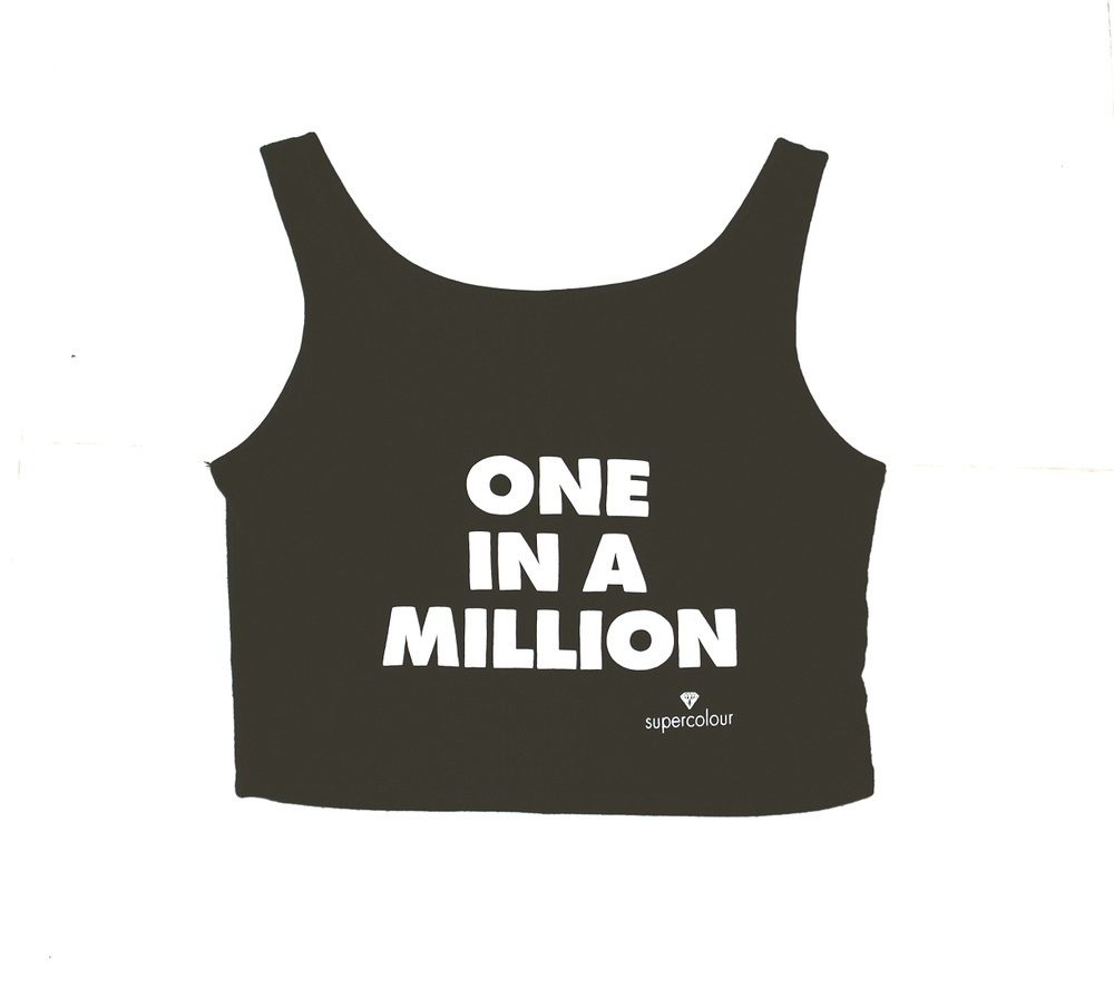 Supercolour — one in a million crop tank