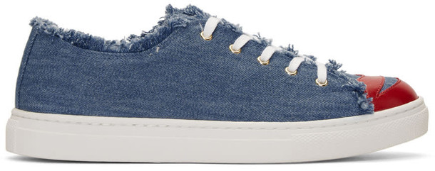charlotte olympia denim sneakers blue shoes