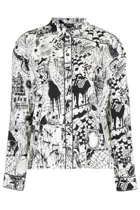 Halloween Print PJ Shirt - Topshop
