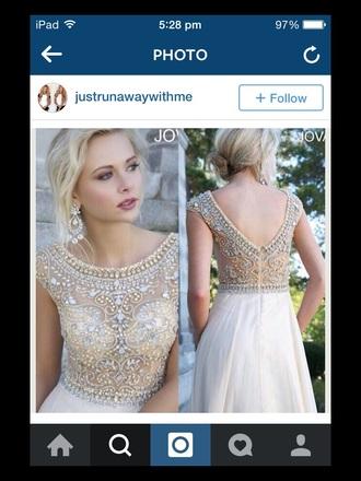 dress cream dress prom dress