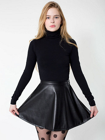 Vegan Leather Circle Skirt | American Apparel