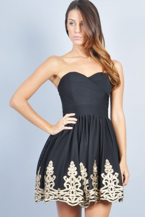 TFNC LILA BANDEAU DRESS | TFNC PROM DRESSES