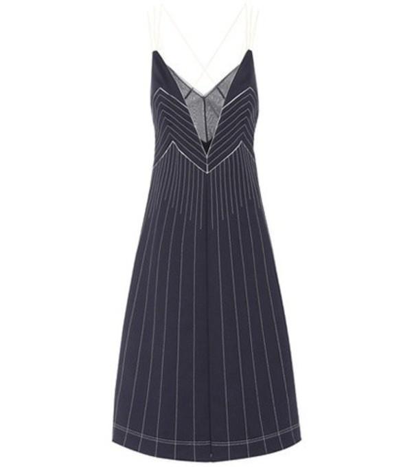 Valentino Techno Jersey midi dress in black