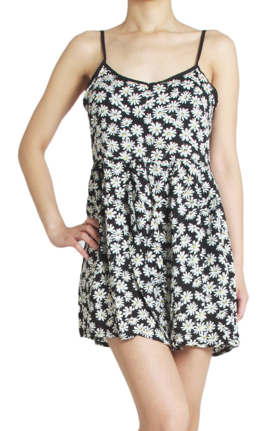 Amazon.com: girly daisy flower print casual shorts overall romper jumpsuit: clothing