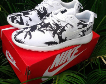 competitive price a56f9 4508e Nike Roshe Run Palm Trees Palms WOMENS all SIZES Custom ...