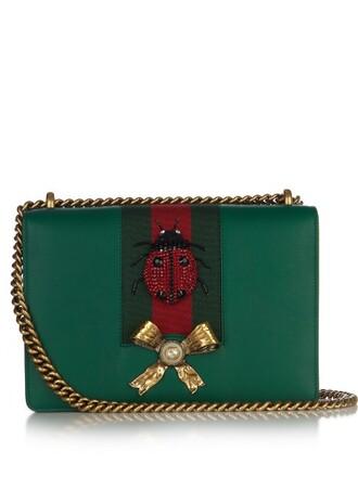 bag shoulder bag leather green